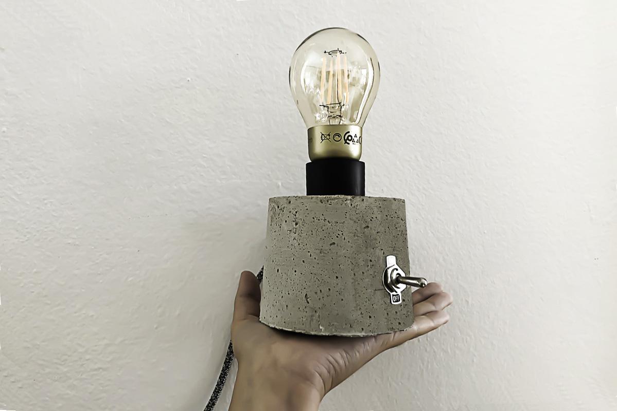 DIY lampe en béton 2