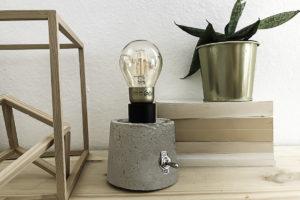 DIY lampe en béton 1