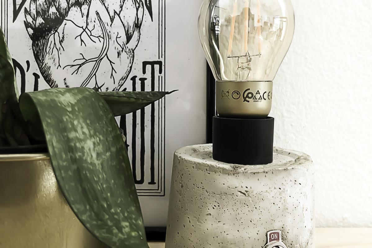 Décoration avec la lampe en béton DIY 2
