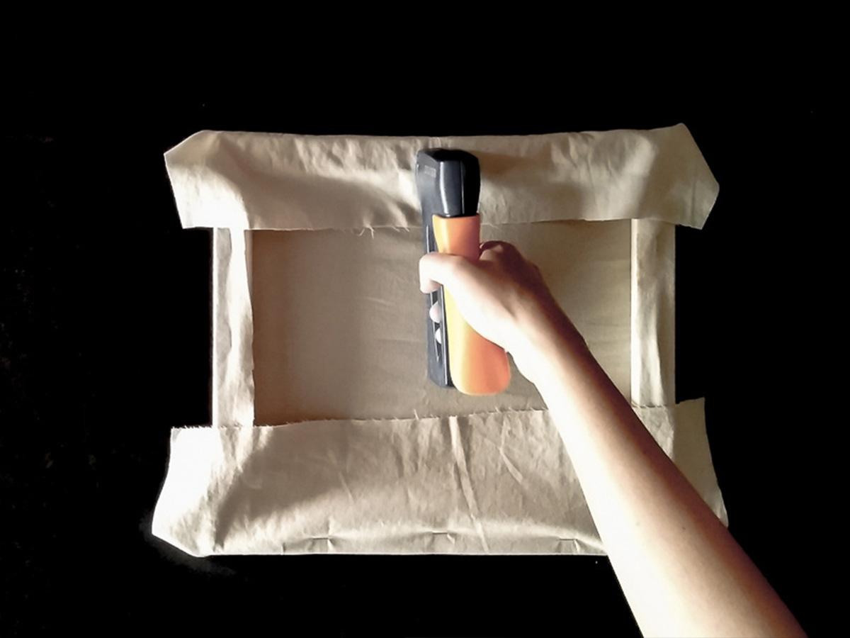 DIY toile brodée fixation tissu partie 5
