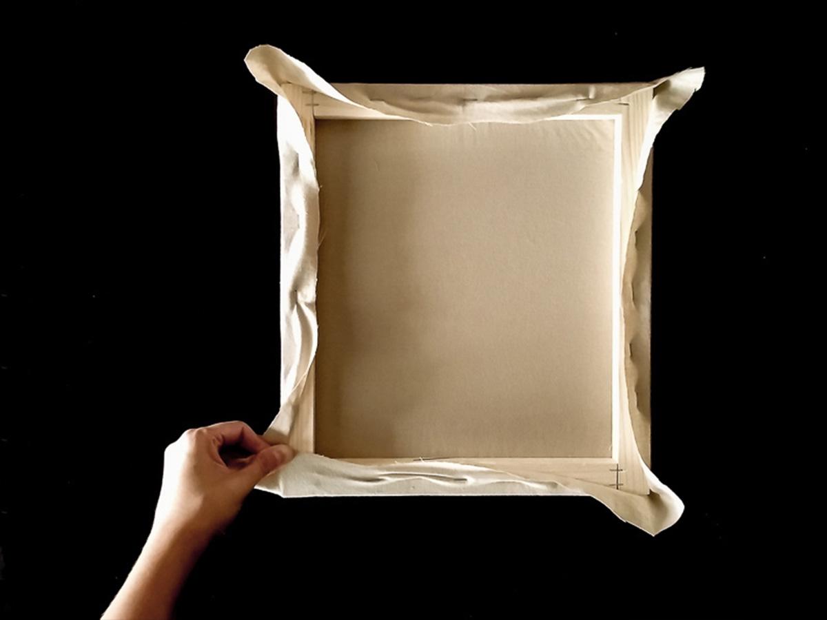 DIY toile brodée fixation tissu partie 7