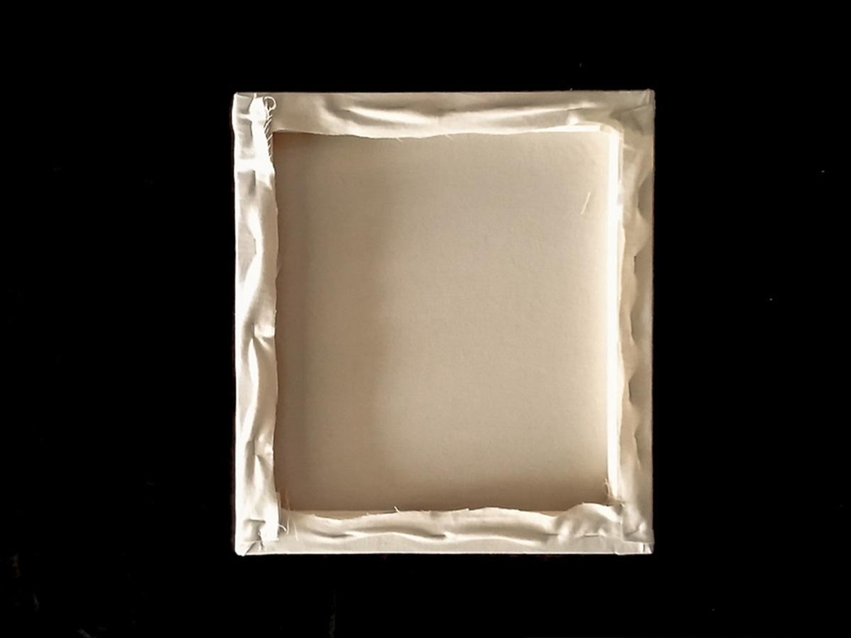 DIY toile brodée fixation tissu partie 10