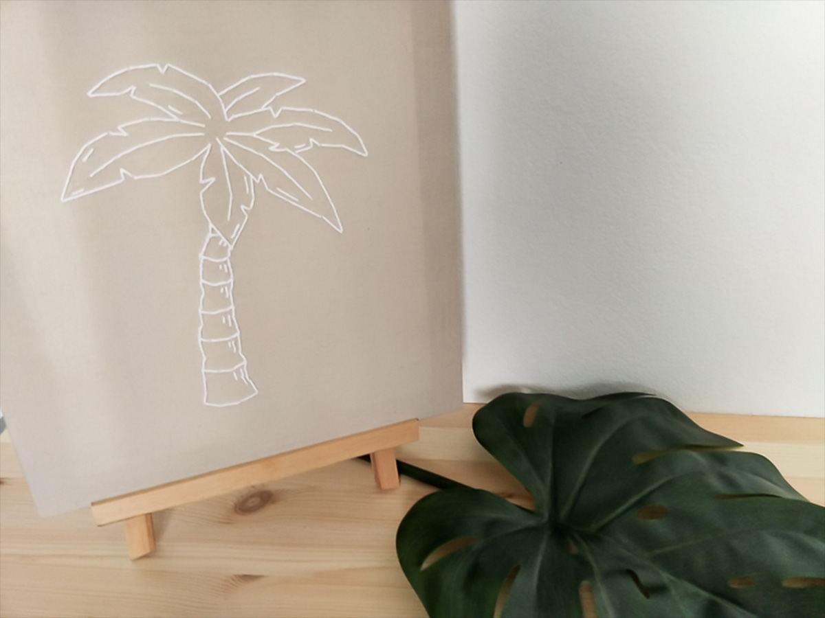 DIY toile brodée, tendance tropicale 1