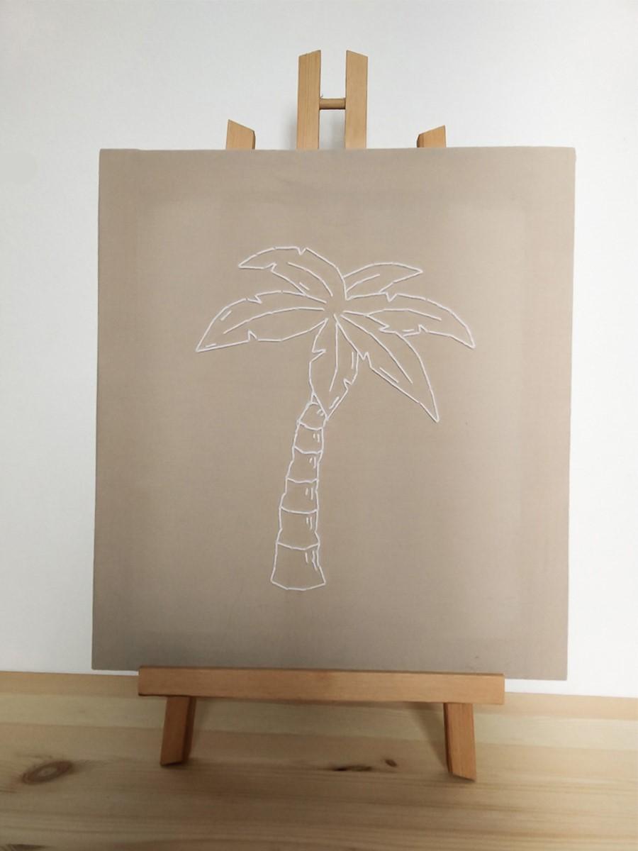 DIY toile brodée, tendance tropicale 2