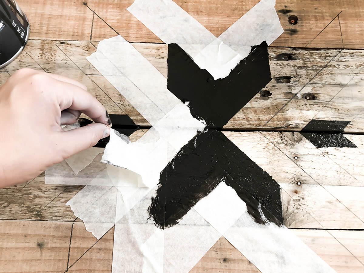 Déco murale en bois recyclé DIY 11
