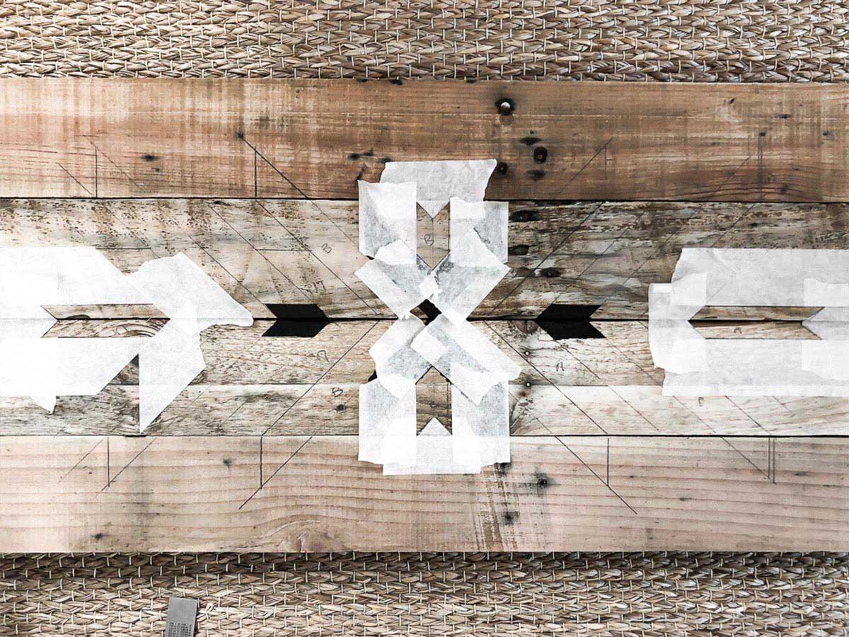 Déco murale en bois recyclé DIY 13