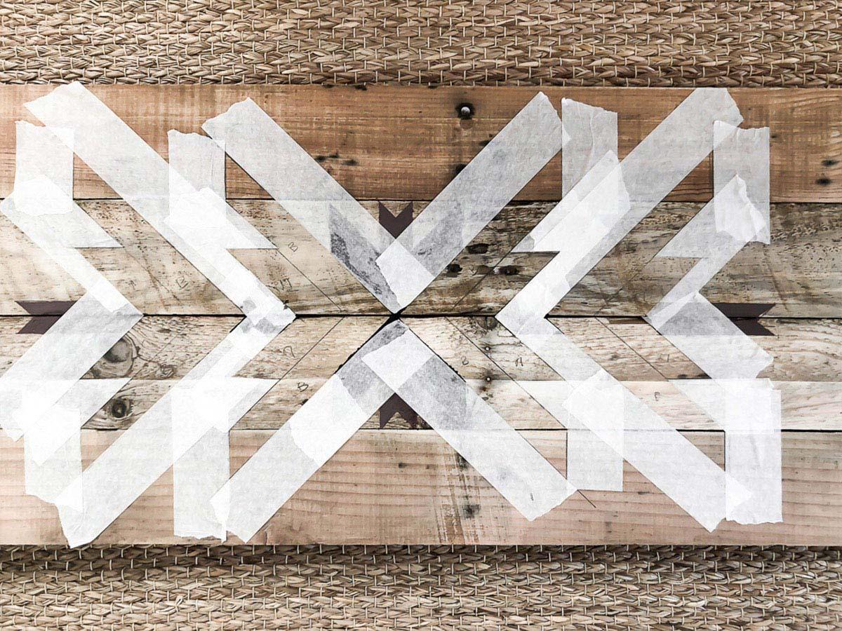 Déco murale en bois recyclé DIY 14