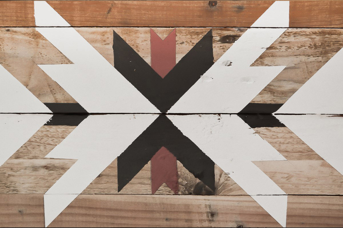 Déco murale en bois recyclé 2