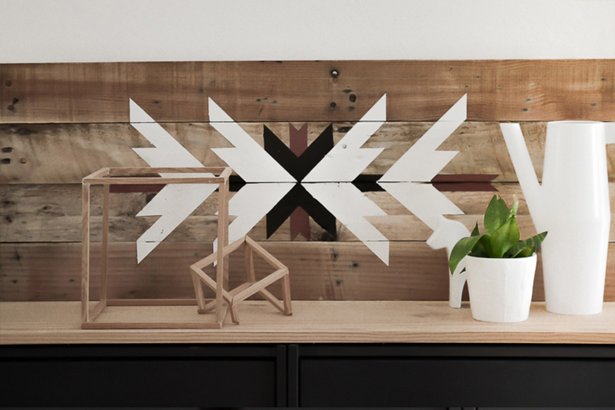 Déco murale en bois recyclé 3