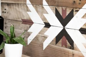 Déco murale en bois recyclé 1