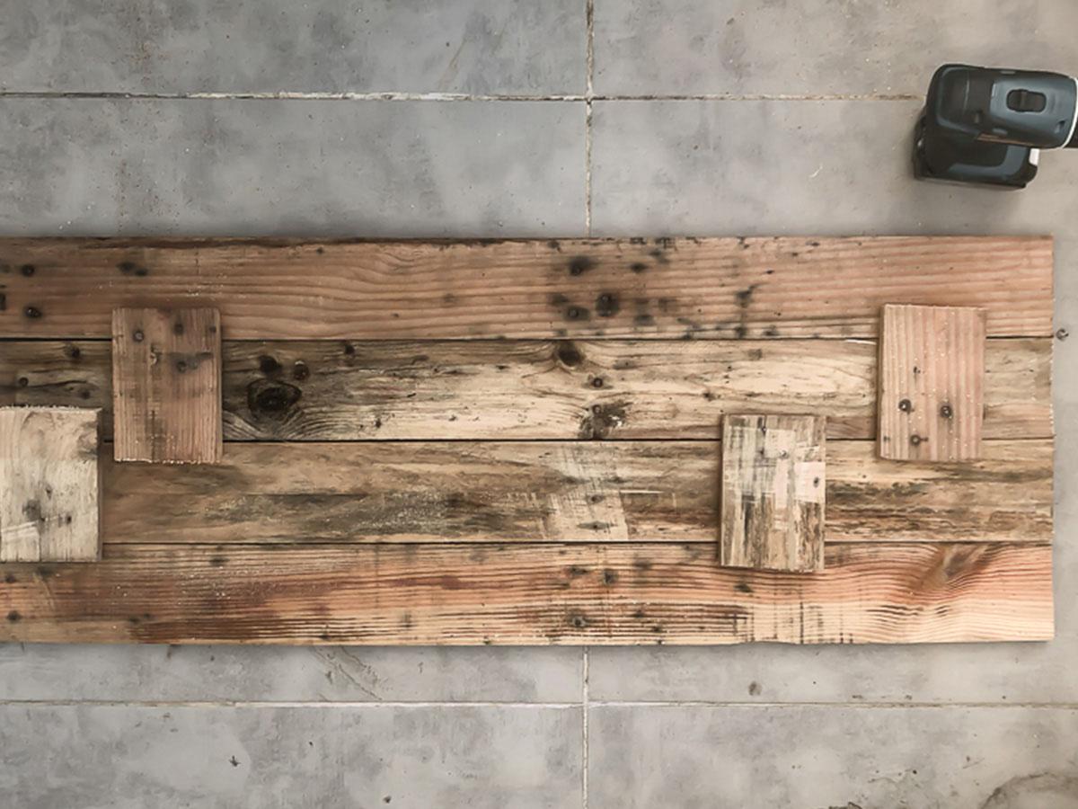Déco murale en bois recyclé DIY 2