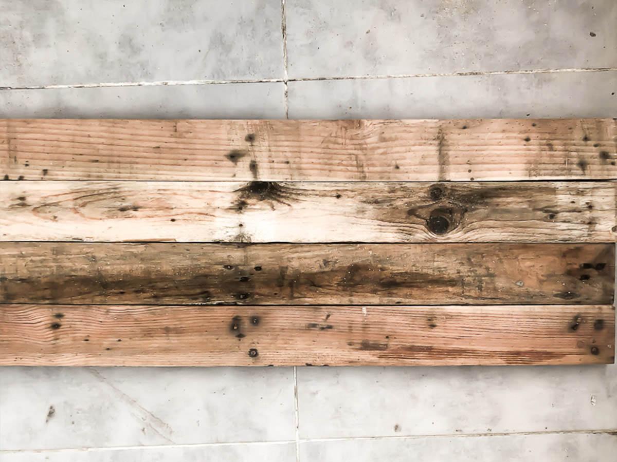 Déco murale en bois recyclé DIY 4
