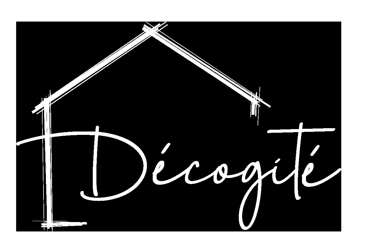 Logo blanc (détouré) Décogité, agence de décoration d'intérieur à La Réunion