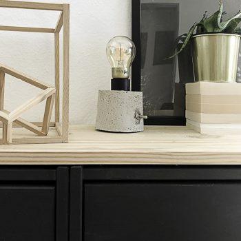 Décoration avec la lampe en béton DIY 3