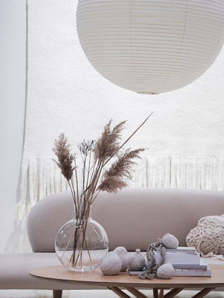 Herbe de la pampa dans un décor design