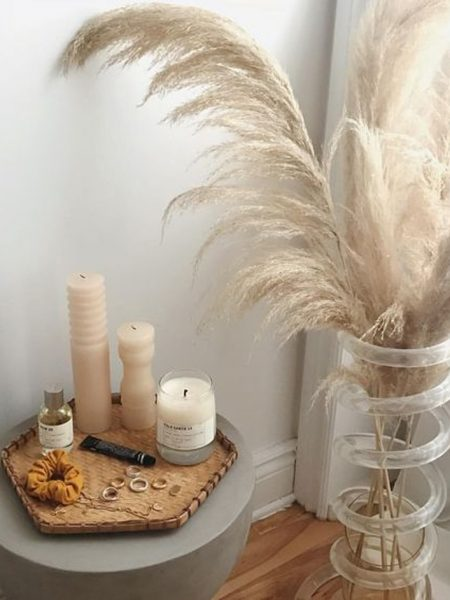 Herbe de la pampa dans un décor sensuel