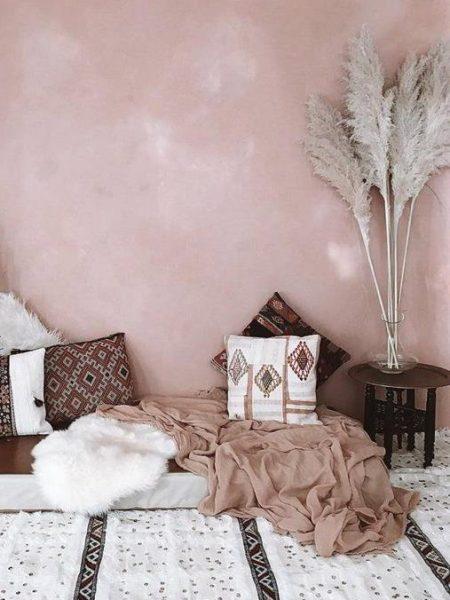 Herbe de la pampa dans un décor glamour