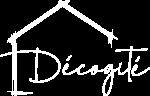 Logo (négatif) de l'agence de décoration d'intérieur Décogité à La Réunion